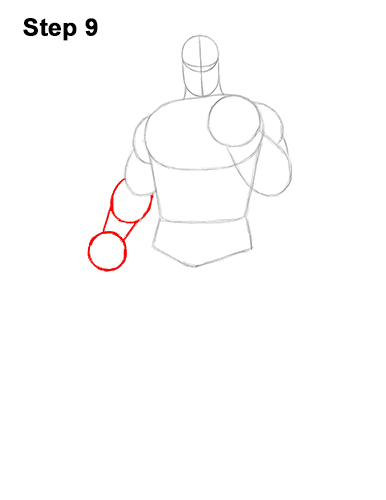 How to Draw Thanos Marvel Avengers Full Body 9