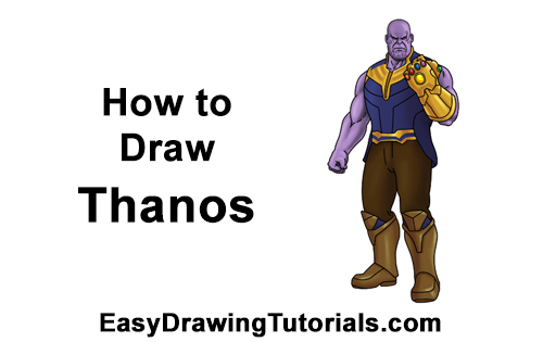How to Draw Thanos Marvel Avengers Full Body
