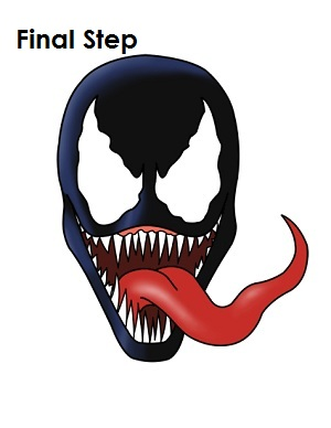 How to Draw Venom Final Step